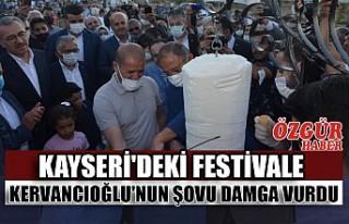 Kayseri'deki Festivale Kervancıoğlu'nun...