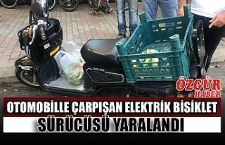 Otomobille Çarpışan Elektrik Bisiklet Sürücüsü...