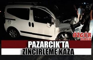 Pazarcık'ta Zincirleme Kaza