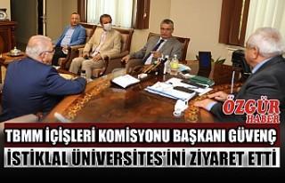 TBMM İçişleri Komisyonu Başkanı Güvenç İstiklal...