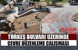 Türkeş Bulvarı Üzerinde Çevre Düzenleme Çalışması