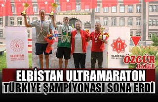 Elbistan Ultramaraton Türkiye Şampiyonası Sona...