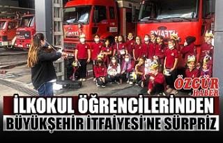 İlkokul Öğrencilerinden Büyükşehir İtfaiyesi'ne...