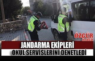 Jandarma Ekipleri Okul Servislerini Denetledi