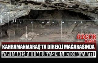 Kahramanmaraş'ta Direkli Mağarasında Yapılan...