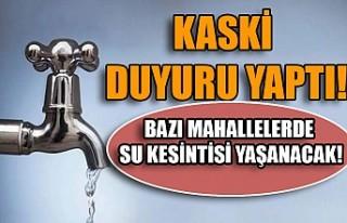 Kahramanmaraş'ta Hafta Sonu Su Kesintisi Uyarısı