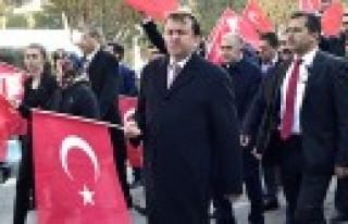 Başkan Erkoç, Kahraman Hemşehrilerini Teröre Karşı...
