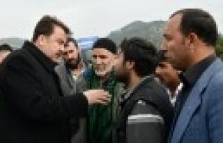 Başkan Erkoç Kaza Yerinde İncelemelerde Bulundu