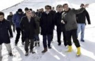 Başkan Erkoç Yedikuyular Kayak Merkezi'nde