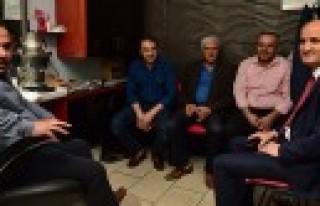 Başkan Okay'dan Esnafa Sürpriz Ziyaret