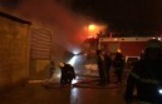 Çelik Fabrikasında Yangın