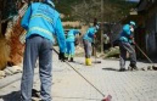 Dulkadiroğlu'ndan Kırsal Mahallelere Bahar Temizliği