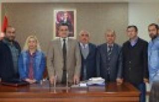 Gazetecilerden Kaymakam Anteplioğlu'na Ziyaret
