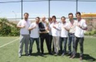 """HKÜ'de """"KIT CUP'14"""" Futbol Turnuvası Tamamlandı"""