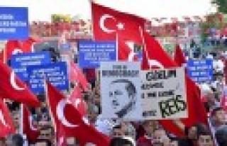 Kahramanmaraş Demokrasi İçin Yürüdü