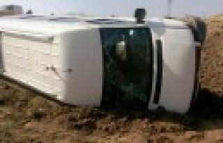 Kahramanmaraş'ta Minibüs Tarlaya Uçtu: 8 Yaralı...