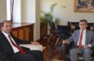 Kaymakam Ersin Tepeli Rektör Karaaslan'ı Ziyaret...