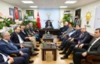 KMTSO Yönetimi AK Parti İl Başkanı Debgici'yi...