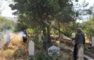 Mezarlıklarda Temizlik Çalışmaları Devam Ediyor