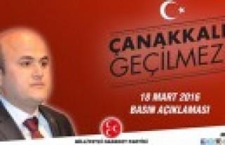 MHP Onikişubat'tan Çanakkale Zaferi Mesajı