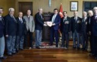 Muharip Gazileri Derneği'nden Başkan Erkoç'a...
