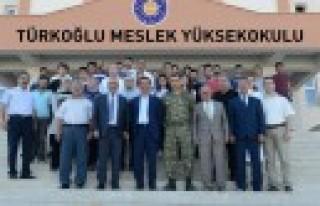 Rektör Deveci, KSÜ Türkoğlu Yerleşkesinde İncelemelerde...