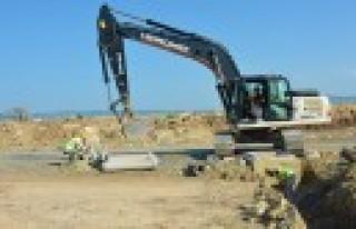 Sanayi'de Altyapı Çalışmaları Sürüyor