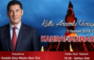 Sinan Oğan'ın Kahramanmaraş Programı