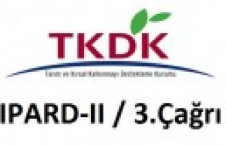TKDK IPARD II 3. Başvuru Çağrı İlanı Yayınladı