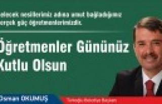 Türkoğlu'nda Öğretmenlere Gül Dağıtıldı