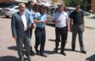 Zabıta Daire Başkanı Karataş İlçeleri Gezdi