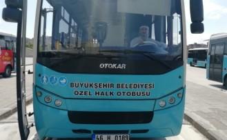 Büyükşehir Belediyesinden Özel Halk Otobüsü Esnafına Gelir Desteği