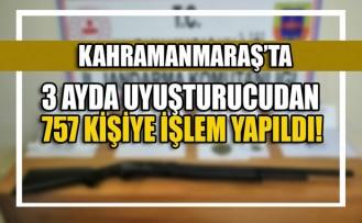 Kahramanmaraş'ta 3 Ayda Uyuşturucudan 757 Kişiye İşlem Yapıldı