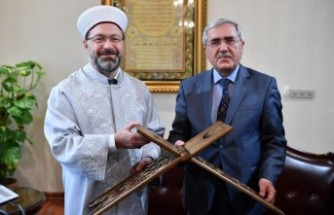 KSÜ Rektörü Can, Diyanet İşleri Başkanı Erbaş'ı Ziyaret Etti