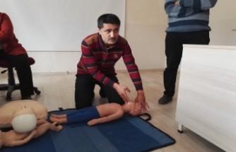 İl Sağlık Müdürlüğü'nden KSÜ Personeline İlkyardım Eğitimi