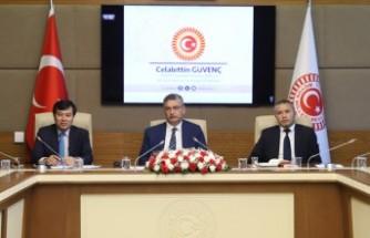 İçişleri Komisyonu Başkanı Güvenç'in VKP Heyeti Kabulü