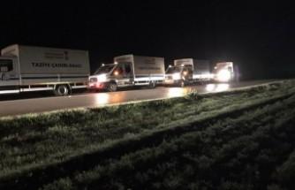 Elbistan'da Mahsur Kalan Yaylacılar ve Koyun Sürüleri Kurtarıldı