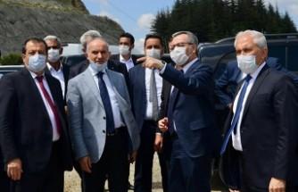 Başkan Güngör Andırın'da Yatırım Alanlarını Gezdi