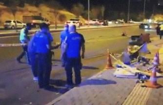 Otomobil Yayaya Çarptı, Takla Attı! 1 Ölü, 3 Yaralı