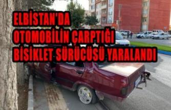 Elbistan'da Otomobilin Çarptığı Bisiklet Sürücüsü Yaralandı