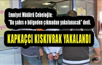 Kapkaç Mağduru Kadın Kovaladı Polis Yakaladı