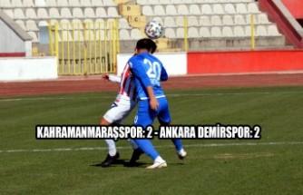 Kahramanmaraşspor: 2 - Ankara Demirspor: 2