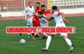 Kahramanmaraşspor: 2 - Zonguldak Kömürspor: 2