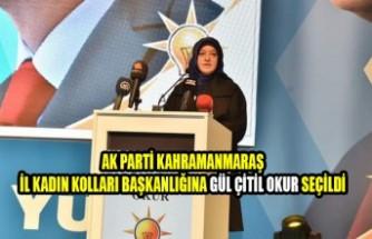 AK Parti Kahramanmaraş İl Kadın Kolları Başkanlığına Okur Seçildi