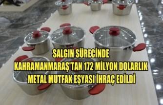 Kahramanmaraş'tan 172 Milyon Dolarlık Metal Mutfak Eşyası İhraç Edildi