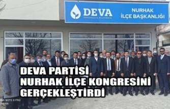DEVA Partisi Nurhak İlçe Kongresini Gerçekleştirdi