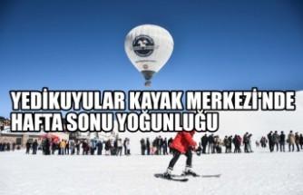 Kahramanmaraş'taki Yedikuyular Kayak Merkezi'nde Hafta Sonu Yoğunluğu