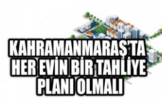 Kahramanmaraş'ta Her Evin Bir Tahliye Planı Olmalı