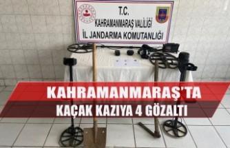 Kahramanmaraş'ta Kaçak Kazıya 4 Gözaltı