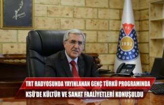 TRT Radyosunda Yayınlanan Genç Türkü Programında KSÜ'de Kültür ve Sanat Faaliyetleri Konuşuldu